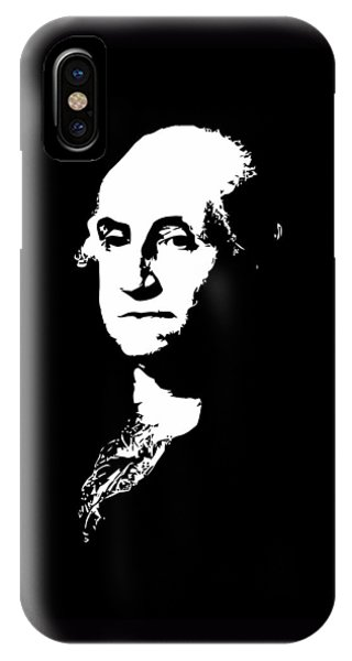 George Washington Black And White IPhone Case