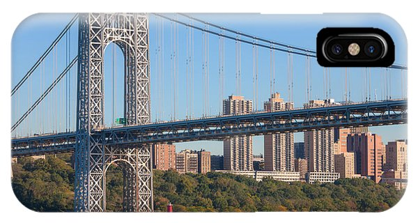 George Washington Bridge And Lighthouse II IPhone Case