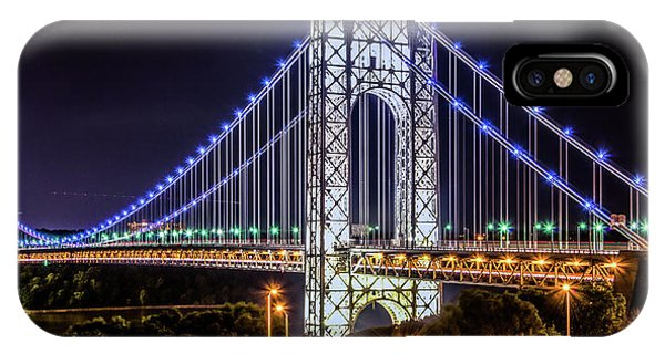 IPhone Case featuring the photograph George Washington Bridge - Memorial Day 2013 by Theodore Jones
