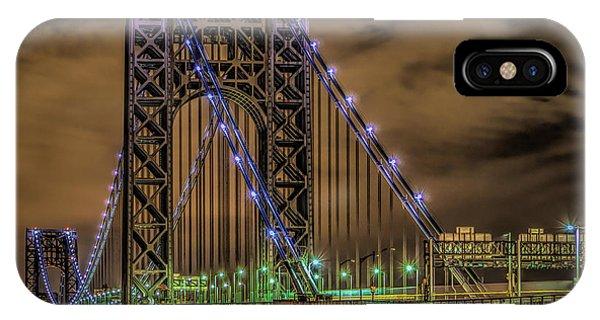 IPhone Case featuring the photograph George Washington Bridge by Theodore Jones