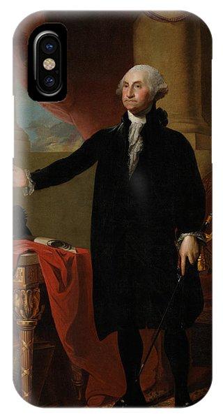Washington iPhone Case - George Washington Lansdowne Portrait by War Is Hell Store