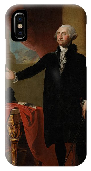 Portraits iPhone X Case - George Washington Lansdowne Portrait by War Is Hell Store