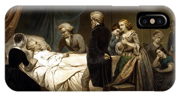 George iPhone Case - George Washington On His Deathbed by War Is Hell Store