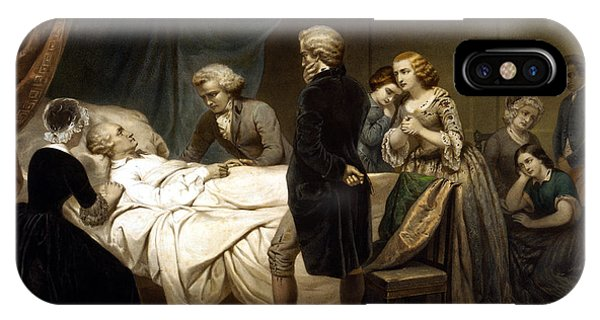 George Washington iPhone Case - George Washington On His Deathbed by War Is Hell Store