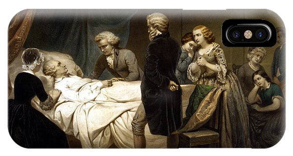 George Washington On His Deathbed IPhone Case