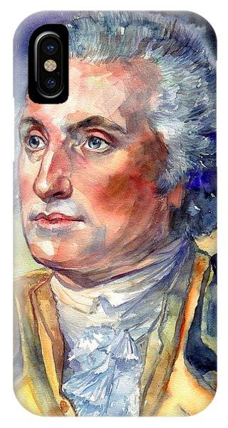 George iPhone Case - George Washington Portrait by Suzann Sines