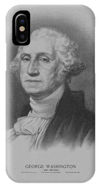 George Washington iPhone Case - George Washington by War Is Hell Store