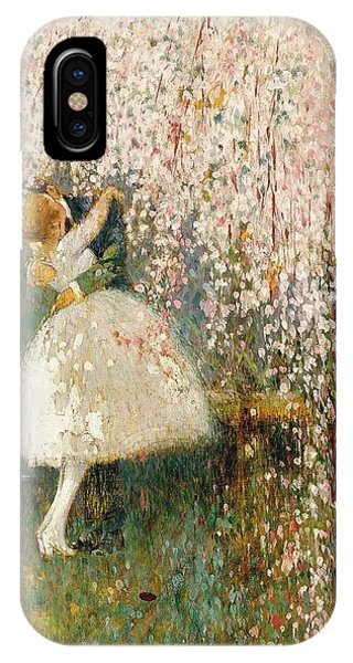 Georges Picard French 1857 1946 Romance Under The Blossom Tree IPhone Case
