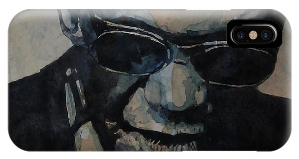 Rock And Roll Art iPhone Case - Georgia On My Mind - Ray Charles  by Paul Lovering