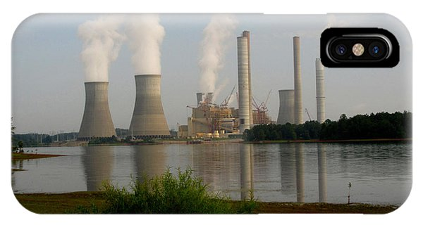 Lake Juliette iPhone Case - Georgia Power Plant by Donna Brown