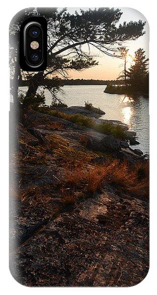 Georgian Bay Rock-wild Grass At Sunset IPhone Case