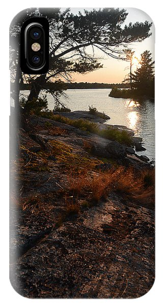 Georgian Bay Rock-wild Grass At Sunset IPhone Case