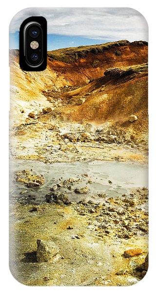 Landscapes iPhone Case - Geothermal Area In Reykjanes Iceland by Matthias Hauser