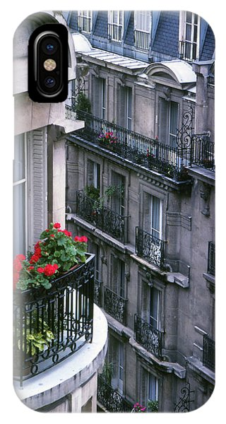 Geraniums - Paris IPhone Case