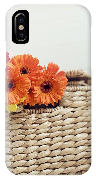 Gerbera In A Basket IPhone Case