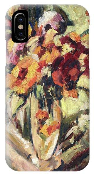 iPhone Case - Gerberas In Glass Vase by Nop Briex