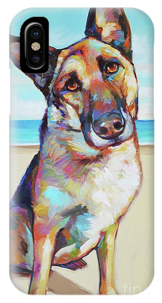 German Shepard On The Beach IPhone Case