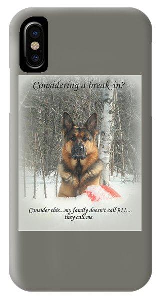 German Shepherd 911 IPhone Case