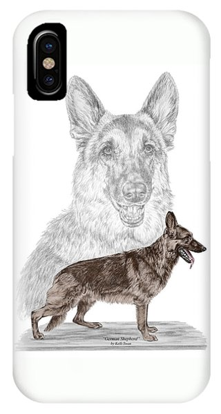 German Shepherd Art Print - Color Tinted IPhone Case