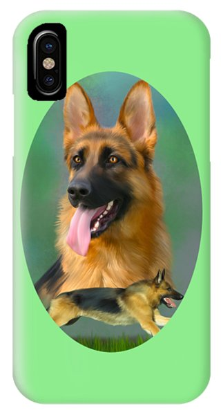 German Shepherd Breed Art IPhone Case