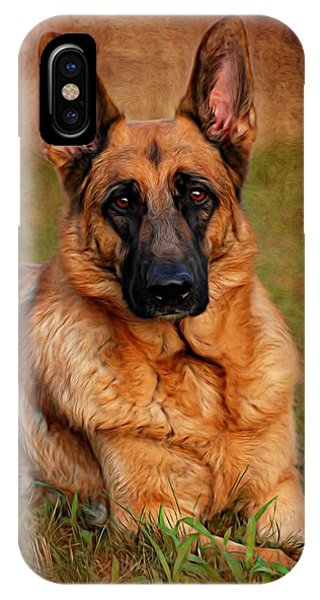 German Shepherd Dog Portrait  IPhone Case