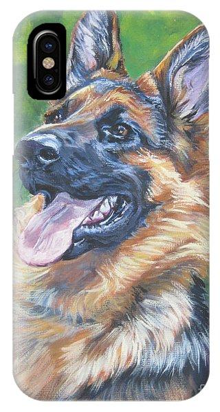 Pup iPhone Case - German Shepherd Head Study by Lee Ann Shepard