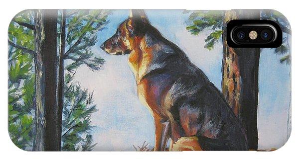 German Shepherd Lookout IPhone Case