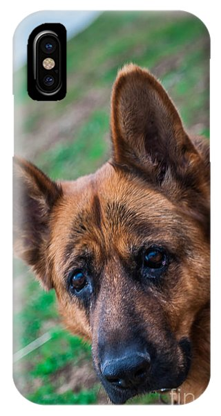 German Shepherd Profile IPhone Case