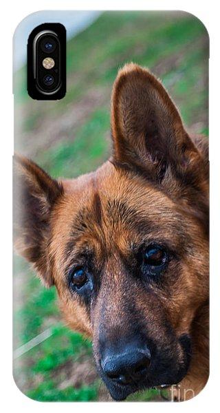 German Shepherd Profile IPhone Case