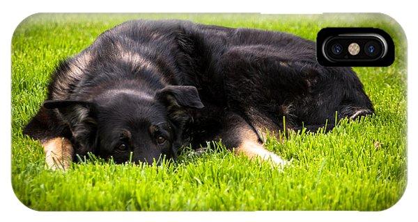 German Shepherd Sleeping IPhone Case
