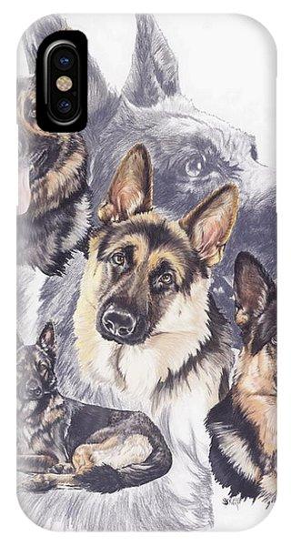 German Shepherd Medley IPhone Case