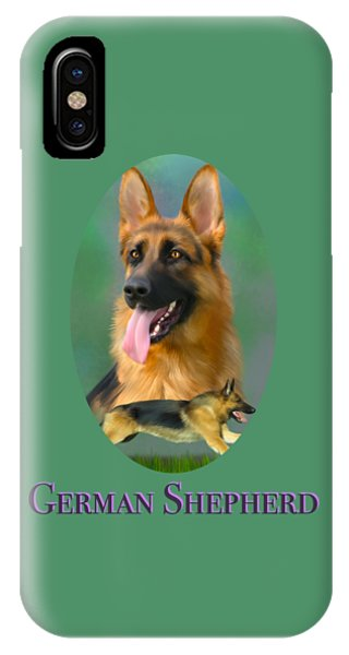 German Shepherd With Name Logo IPhone Case