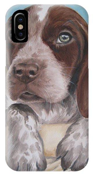 German Shorhaired Pointer Puppy IPhone Case