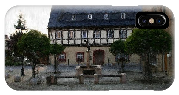 German Town Square IPhone Case