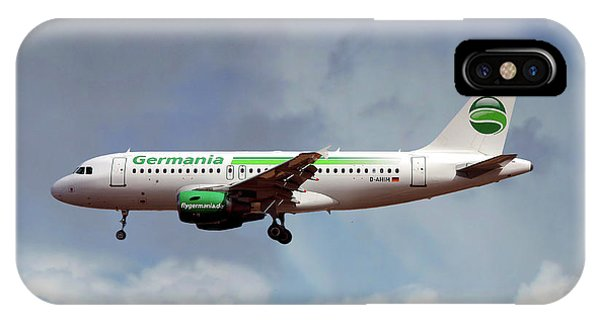 Airline iPhone Case - Germania Airbus A319-112 by Smart Aviation