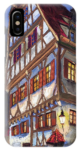 Building iPhone Case - Germany Ulm Old Street by Yuriy Shevchuk
