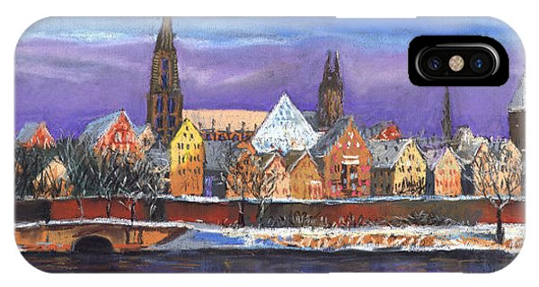 Panorama iPhone Case - Germany Ulm Panorama Winter by Yuriy Shevchuk