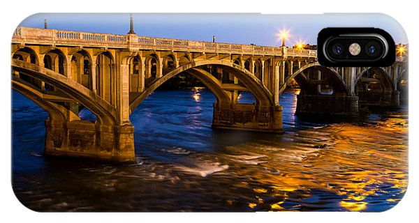 Gervais Street Bridge At Twilight IPhone Case