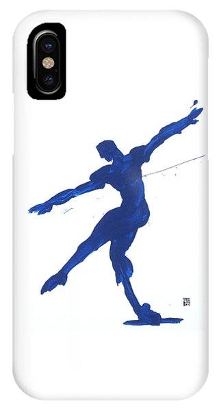Gesture Brush Blue 2 IPhone Case
