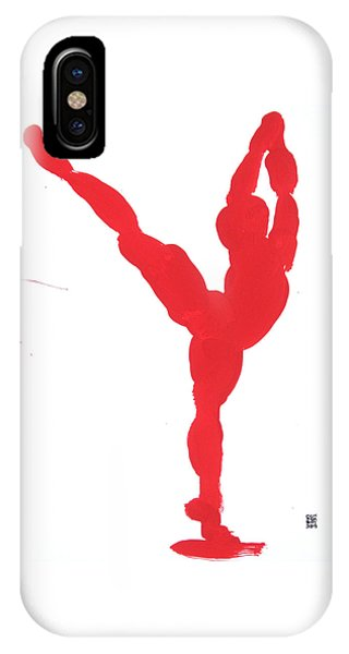 Gesture Brush Red 1 IPhone Case