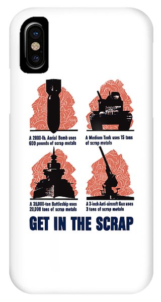 Metal iPhone Case - Get In The Scrap - Ww2 by War Is Hell Store