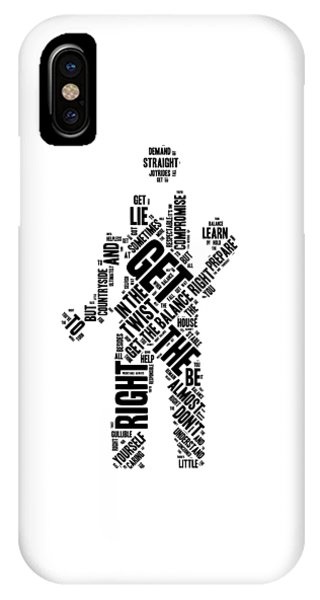 Again iPhone Case - Get The Balance Right Words by Luc Lambert