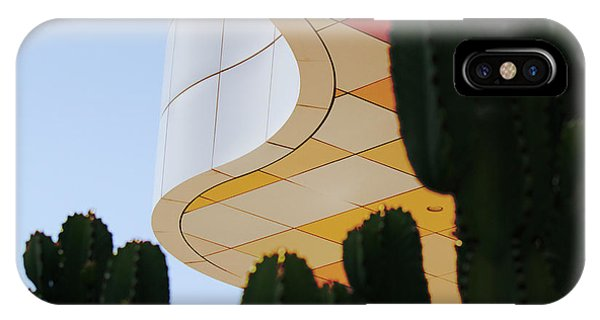 J Paul Getty iPhone Case - Getty Architecture Cactus Color Curves  by Chuck Kuhn