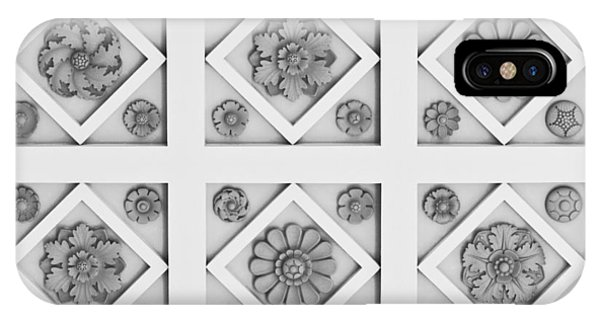 J Paul Getty iPhone Case - Getty Villa Coffered Peristyle Ceiling by Teresa Mucha