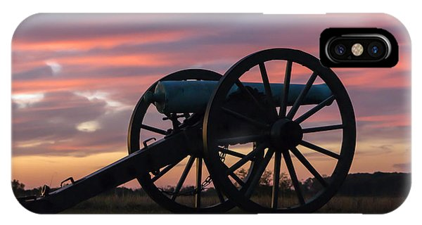 Gettysburg - Cannon On Cemetery Ridge At First Light IPhone Case