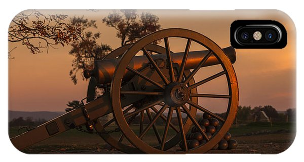 Gettysburg - Cannon With Cannon Balls At Sunrise IPhone Case