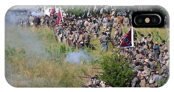Gettysburg Confederate Infantry 8825c IPhone Case
