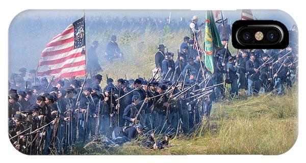 Gettysburg Union Infantry 8948c IPhone Case