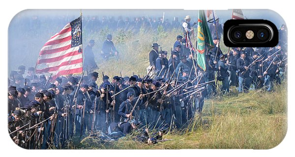 Gettysburg Union Infantry 8948c IPhone Case