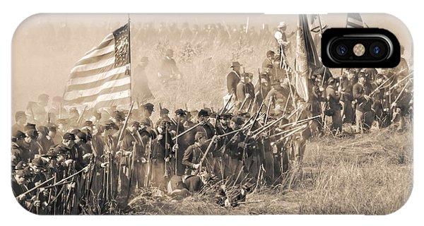 Gettysburg Union Infantry 8948s IPhone Case